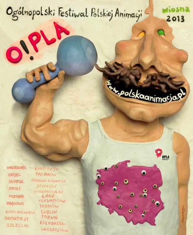 PLAKAT O!PLA (autor Monika Kuczyniecka)