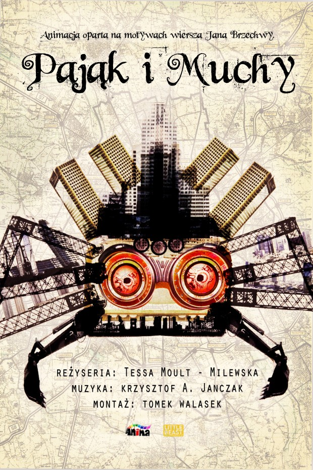PAJĄK I MUCHY (Eng. SPIDER AND FLIES)_POSTER
